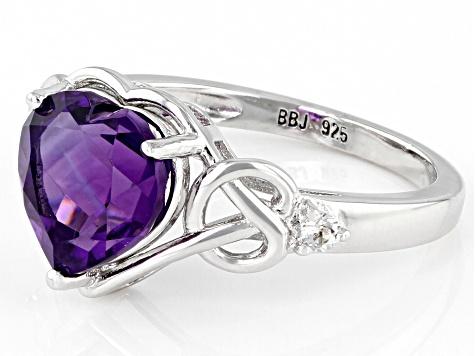 d1e398dfd00a0 Purple Brazilian Amethyst Sterling Silver Ring 2.45ctw