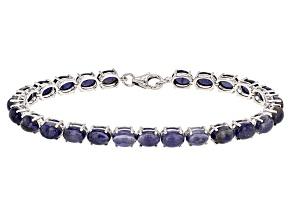 Blue Iolite Sterling Silver Bracelet 22.00ctw