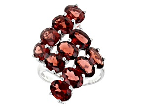 Red Garnet Sterling Silver Ring 10.75ctw