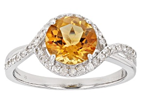 Yellow Brazilian Citrine Sterling Silver Ring 2.30ctw