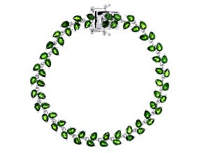 Green Russian Chrome Diopside Sterling Silver Bracelet 10.00ctw