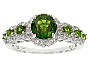 Green Russian Chrome Diopside Sterling Silver Ring 2.25ctw