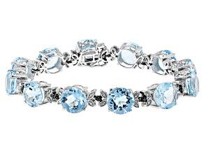 Sky Blue Topaz Sterling Silver Bracelet 50.01ctw