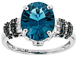 London Blue Topaz 14k White Gold Ring 4.25ctw
