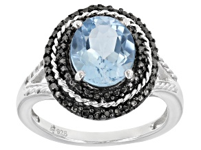 Sky Blue Topaz Sterling Silver Ring 3.11ctw