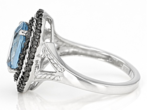 Sky Blue Topaz Rhodium Over Sterling Silver Ring 3.11ctw