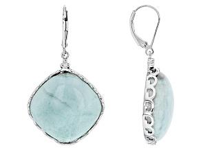 Blue Larimar Sterling Silver Dangle Earrings