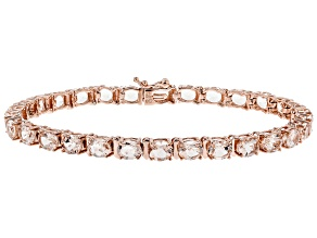 Pink Morganite 10k Rose Gold Tennis Bracelet 9.25ctw