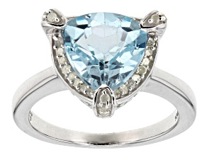 Blue Topaz Sterling Silver Ring 3.20ctw
