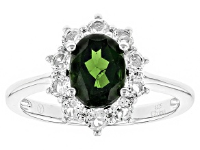 Green Russian Chrome Diopside Sterling Silver Ring 2.00ctw