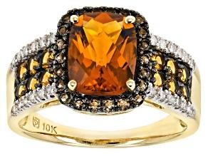 Orange Madeira Citrine 10K Yellow Gold Ring 3.47ctw