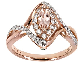 Pink Morganite 10K Rose Gold Ring 1.27ctw