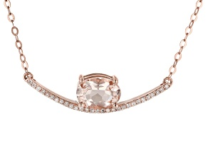 Peach Morganite 10K Rose Gold Necklace 1.09ctw