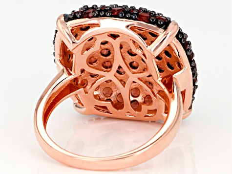 Red Garnet 14K Rose Gold Over Sterling Silver Dome Ring 5.25ctw