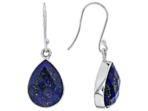 Blue Lapis Lazuli Sterling Silver Teardrop Earrings