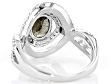 Multi Color, Color Change Garnet Rhodium Over Sterling Silver Ring 1.89ctw