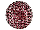 Raspberry Color Rhodolite Rhodium Over Silver Ring 8.09ctw
