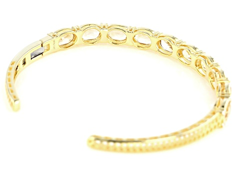 Yellow Citrine 14k Yellow Gold Over Sterling Silver Bangle 6.99ctw