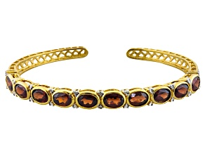 Red Garnet 14k Yellow Gold Over Sterling Silver Bracelet 10.99ctw
