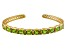 Green Peridot 14k Gold Over Sterling Silver Bangle  8.01ctw