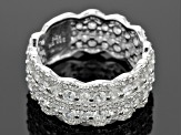 White Zircon Sterling Silver Ring 3.07ctw