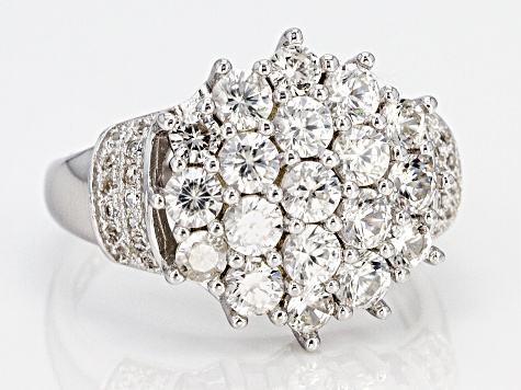 White Zircon Sterling Silver Ring 2.61ctw