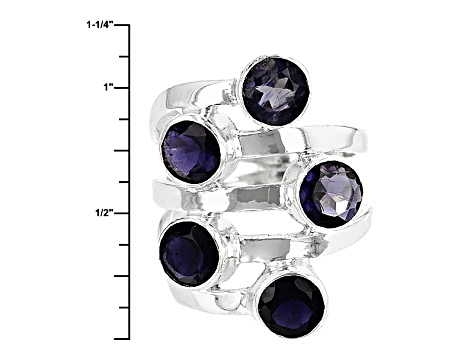 Blue Iolite Sterling Silver Ring 3.00ctw
