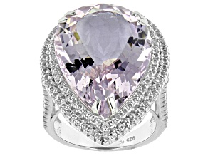 Lavender Amethyst Sterling Silver Ring 21.50ctw
