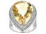 Yellow Citrine Sterling Silver Ring 21.50ctw