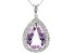 Orchid Amethyst Sterling Silver Pendant With Chain 14.36ctw
