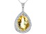 Yellow Citrine Sterling Silver Pendant With Chain 13.40ctw