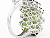 Green Chrome Diopside Sterling Silver Ring 6.97ctw