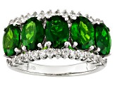 Green Chrome Diopside Sterling Silver Ring 4.60ctw