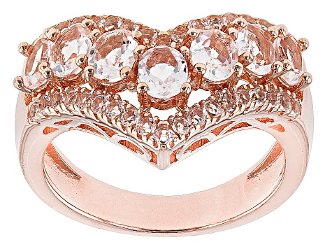 Pink Morganite 14k Gold Over Sterling Silver Ring 1.37ctw