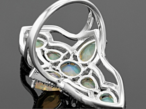 Ethiopian Opal Sterling Silver Ring 2.08ctw