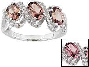 Pink Color Shift Garnet Sterling Silver Ring 1.96ctw