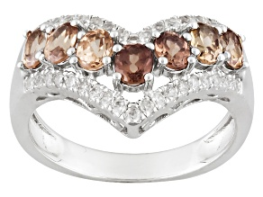 Color Shift Garnet Sterling Silver Ring 2.13ctw