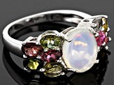 Ethiopian Opal Sterling Silver Ring 3.28ctw