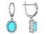 Paraiba Blue Color Opal Sterling Silver Earrings 3.28ctw