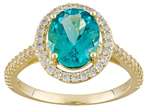 Blue Apatite 10k Yellow Gold Ring 2.80ctw