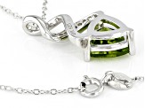 Green Peridot Sterling Silver Pendant With Chain 2.51ctw