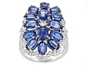 Blue Kyanite Sterling Silver Ring 11.63ctw