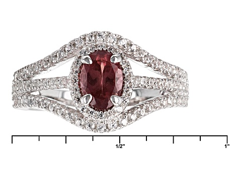 Color Shift Garnet Sterling Silver Ring 1.62ctw