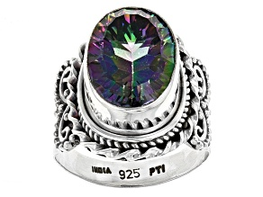 Multicolor Multicolor Quartz Sterling Silver Ring 6.00ct