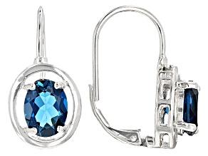 London Blue Topaz Sterling Silver Earrings 4.70ctw