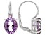 Orchid Amethyst Rhodium Over Sterling Silver Earrings 4.25ctw