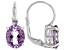 Rose de France Amethyst Rhodium Over Sterling Silver Earrings 4.25ctw