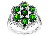 Green Chrome Diopside Sterling Silver Ring 4.43ctw