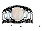Ethiopian Opal Sterling Silver Ring 3.91ctw