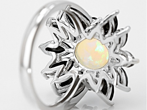 Ethiopian Opal Sterling Silver Ring 3.40ctw